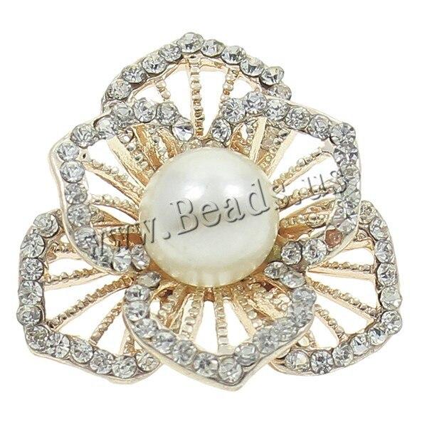 b2987eeb64e3 Nueva moda joyería Accesorios oro brillante cristal perla flor Cuentas  Amuletos para collares y pulseras DIY estilo