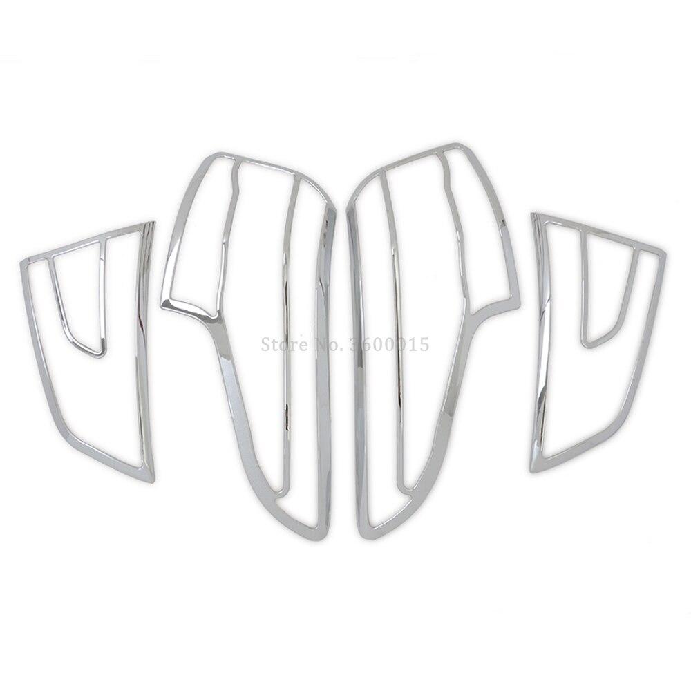 Pour Nissan Qashqai 2015 2016 pièces de style de voiture ABS Chrome couverture de lumière arrière moulure de garnissage feu arrière cadre accessoires extérieurs