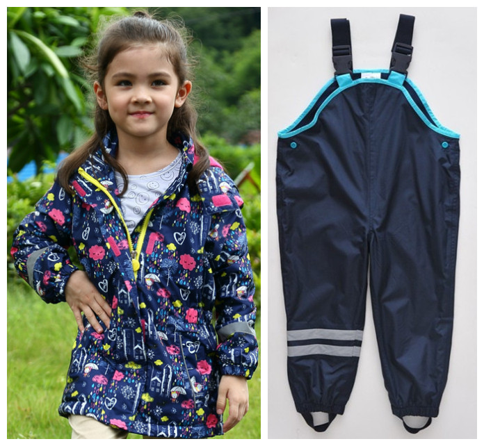 Boys Girls Outdoors Jackets Coats Jackets Pants & Pants Boys Girls Set