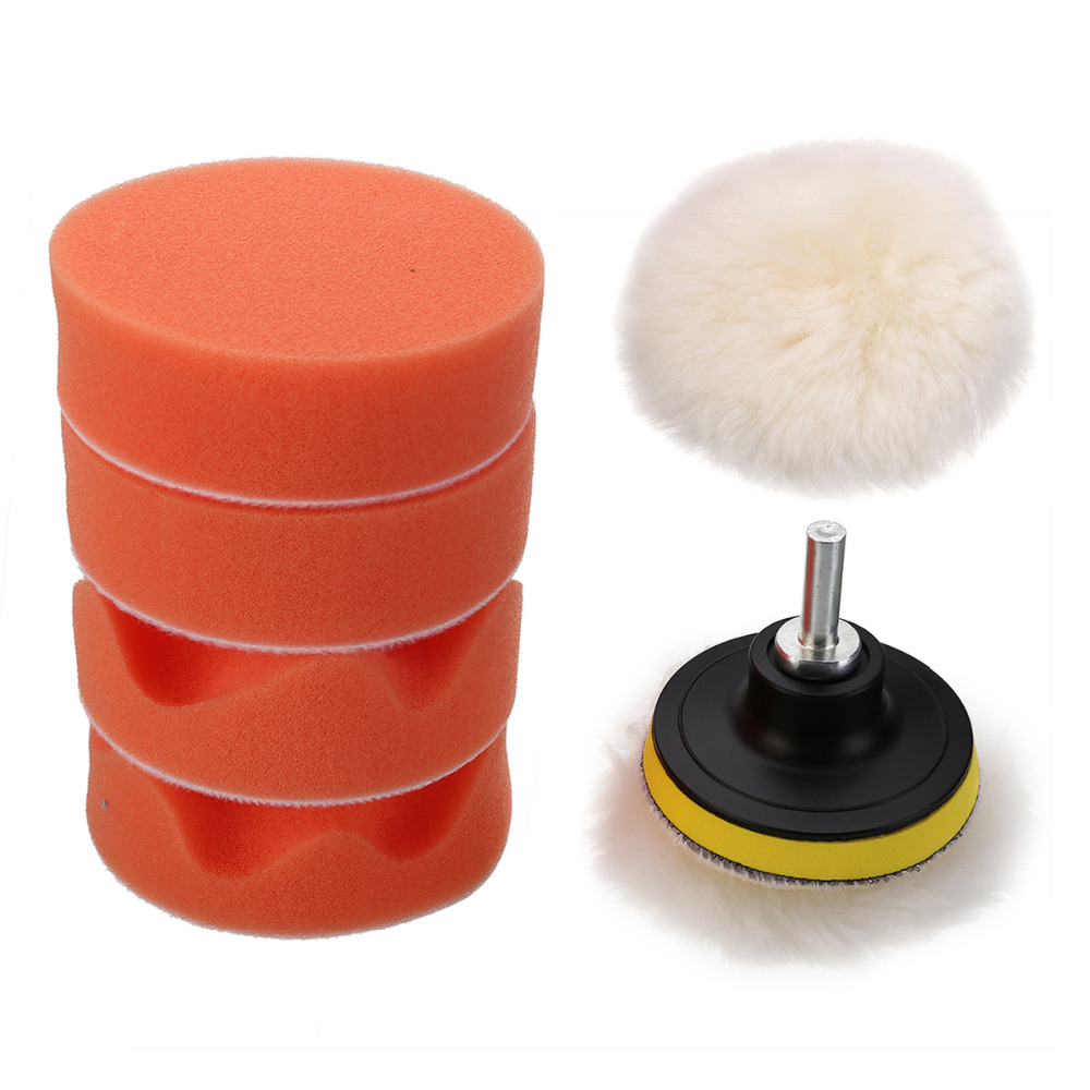 Abrasive Tools 3 Inch For Car Buffing Pad Kit Polishing Wheel Sponge Pad Drill Adapter 11pcs Rapid Heat Dissipation
