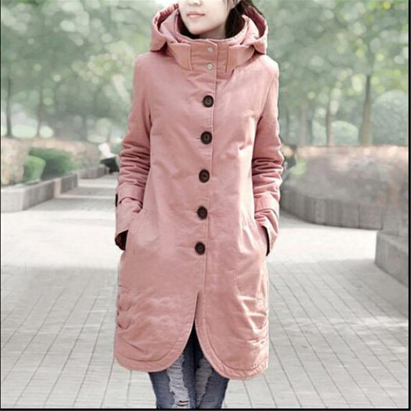 ФОТО New Long Parkas Female Women Winter Coat Thickening Cotton Casual Winter Jacket Womens Outwear Parkas For Women Winter C1265