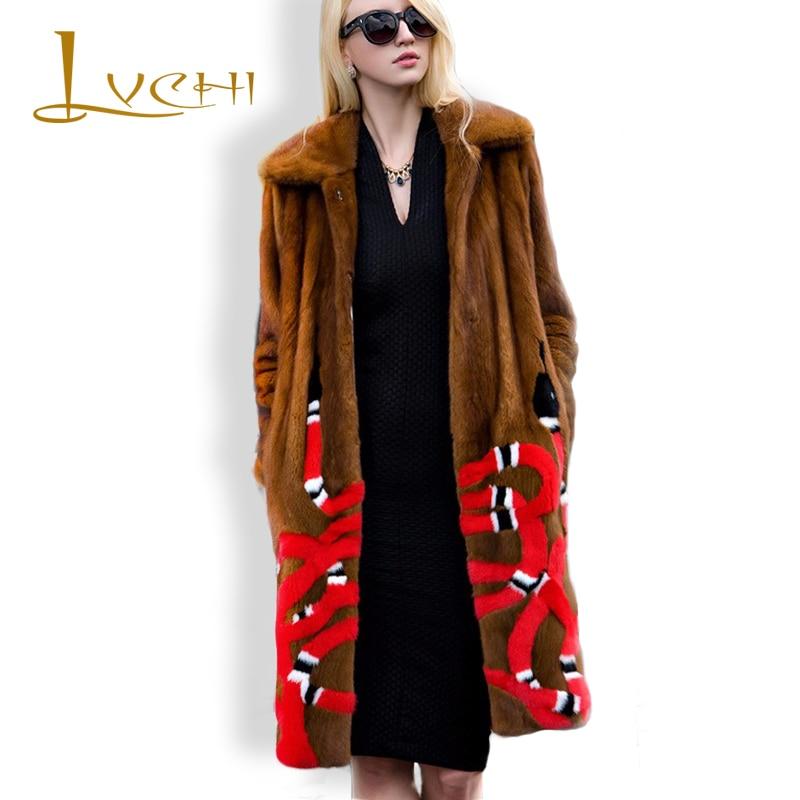 LVCHI audinės kailis Koralinės gyvatės Rusija klasikinė audinė - Moteriški drabužiai
