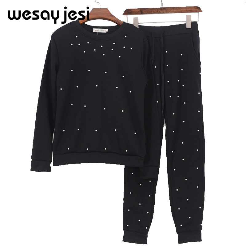 Sports Suit Female Tracksuit Women Two Piece Set Top And Pants Home Suit Knitted Suit For Women Autumn Women Long Sleeve