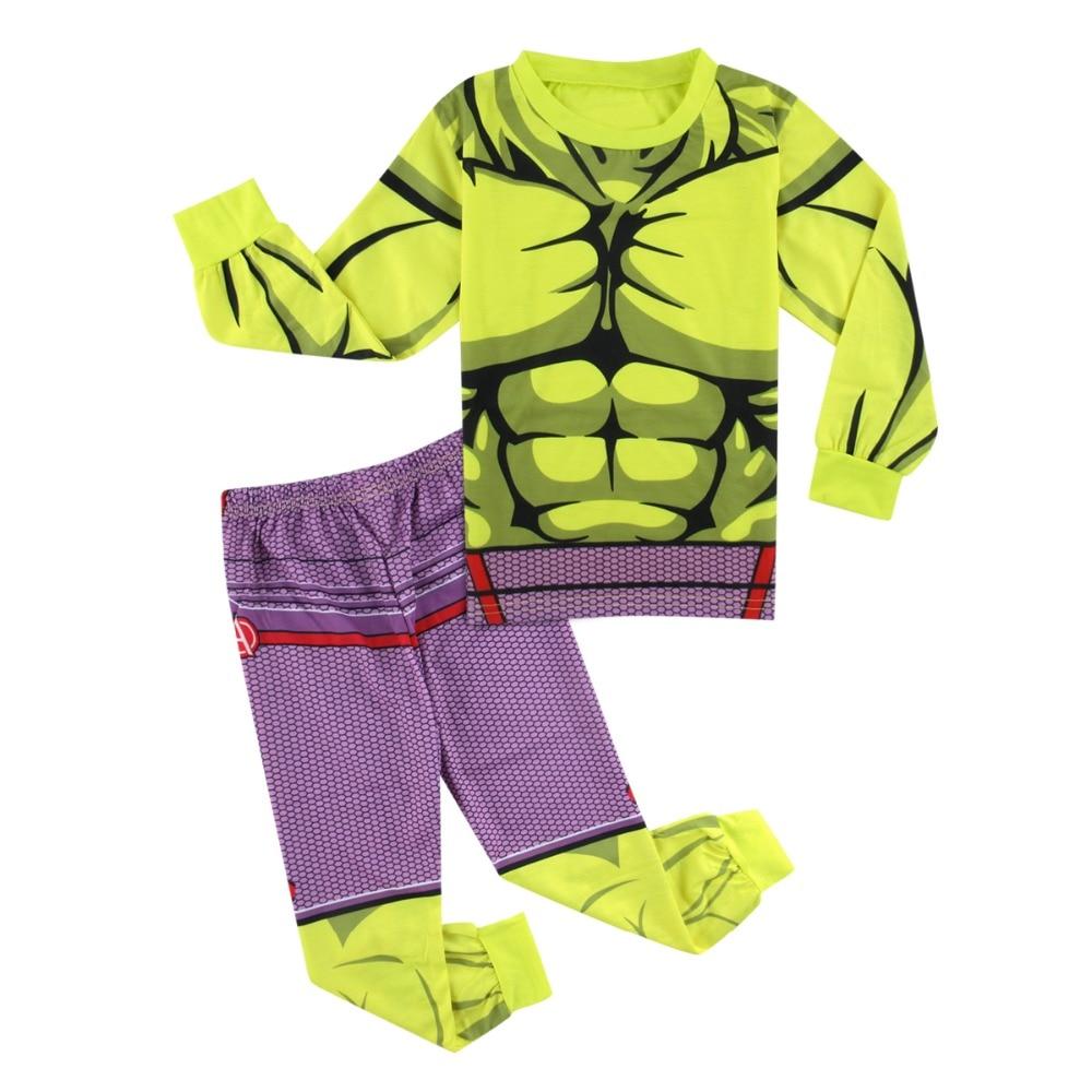 Kids Boy Newly Superhero Green Hulk Pyjamas Children Pajamas Winter Child  Pijamas Clothing Set Funny Costume Sleepwear 3-8Years