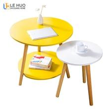 Журнальный столик из цельного дерева в скандинавском стиле, столик для гостиной, диван-столик, маленький обеденный стол, маленький чайный столик, мебель для дома