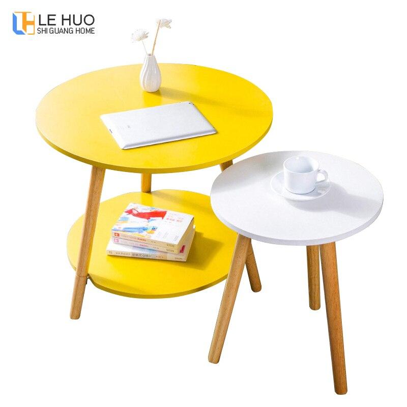 Mobilya'ten Kahve Sehpaları'de Iskandinav tarzı katı ahşap sehpa oturma odası kanepe yan masa küçük yemek masası küçük çay masası ev mobilyaları title=