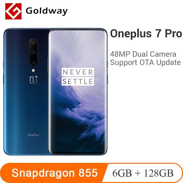 "Global ROM Oneplus 7 Pro 6GB 128GB Smartphone Snapdragon 855 6.67"" AMOLED Screen 48MP Triple Camera 30W Charger NFC 4000mAh"