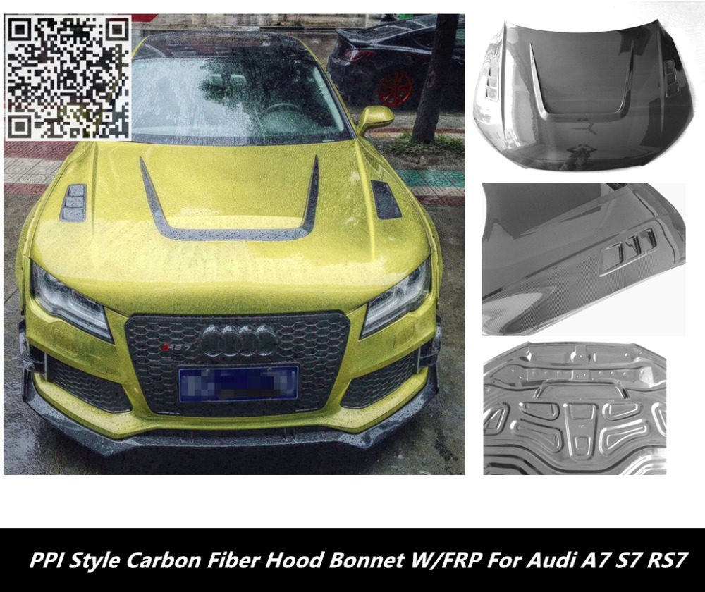 Compare prices on carbon fiber hood online shoppingbuy low price a7 s7 rs7 hood bonnet pi style carbon fiber hood bonnet w frp vanachro Gallery
