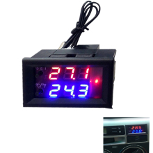 DC 12V  Microcomputer Electronic Thermostat Temperature Controller Switch Adjustable Digital LED Display Intelligent