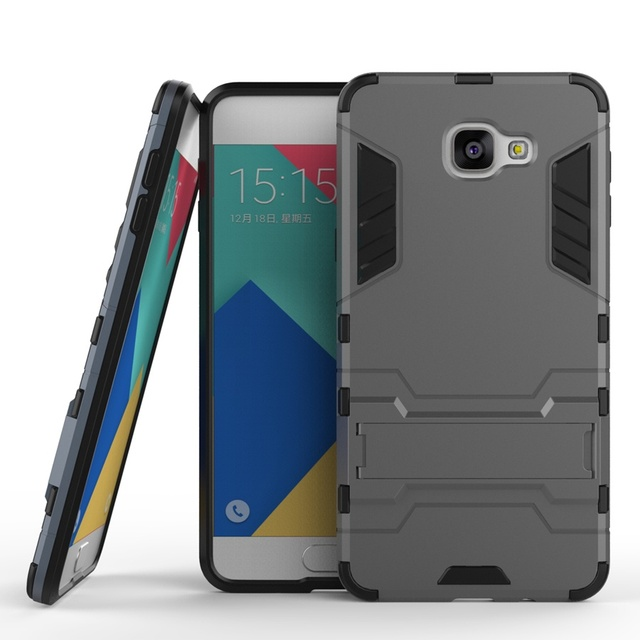 online store 91a3f 42242 Armor 2 in 1 Back Cover Case for Samsung Galaxy A9 Pro 2016 A9100 PC&TPU  Fundas Kickstand Shockproof Coque for Galaxy A9Pro 2016-in Fitted Cases  from ...