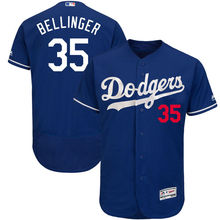 MLB Men s Los Angeles Dodgers Cody Bellinger Majestic White Gray Flex Royal  base Authentic Collection Player Jersey b73bbe539