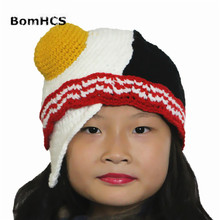 BomHCS Funny Poached Eggs Beanie Hat Handmade Knitted Winter Thick Warm Cap Christmas Halloween Gift все цены