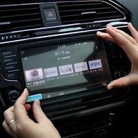 Car GPS Navigation Tempered Glass Screen Protector Steel Portective Film For Volkswagen VW Tiguan 2016 2017