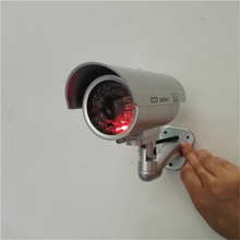 OWGYML Waterproof Dummy Camera Outdoor Indoor Security CCTV Surveillance Camera Flashing Red LED Bullet Fake Security Camera