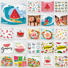 summer watermelon surf fruit lemon tapestry funny styles wall hanging home decoration rectangle