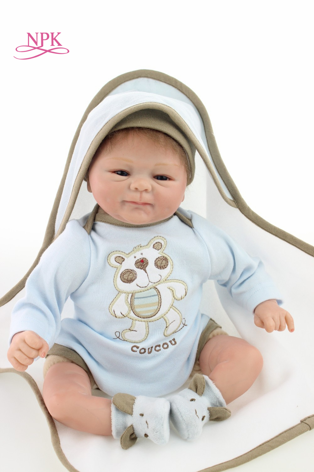 NPK reborn doll with soft real gentle touch hot sale Adorable reborn dollalive lifelike soft dolls Children gifts toys