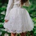 Bebé a Big girls precioso encaje Pettiskirt Mullido suave Sólido Colores Enagua de Tul tutú faldas de la muchacha de Baile de Navidad