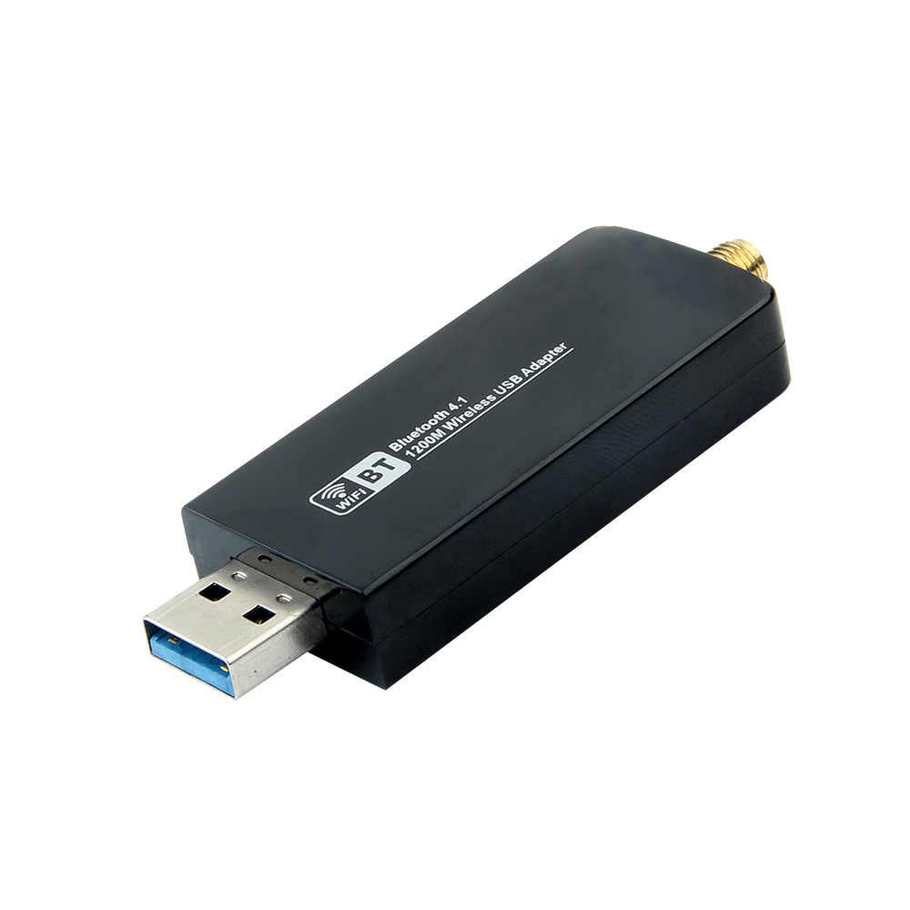 2IN1 Dual Band 1200Mbps Bluetooth 4.1 Wireless USB 3.0 Wifi Adapter 2.4G/5Ghz Realtek RTL8822BU Network Card Dongle w/Antenna
