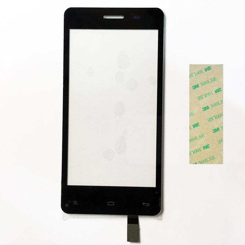 4.5 Inch Touchscreen For Fly IQ4403 IQ 4403 Energie 3 Touch Screen Sensor Digitizer Touch Panel Black Color+3M Tape