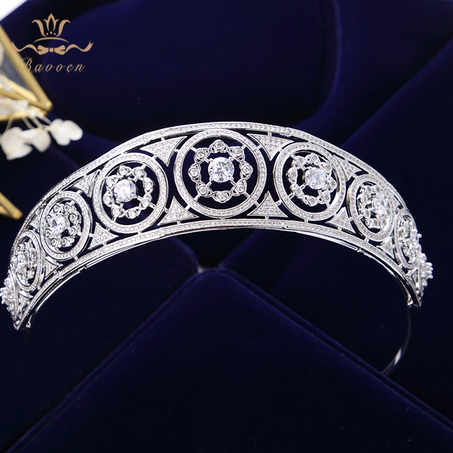 Top Quality Luxurious Sliver Full Zircon Sparkling Brides Crowns Tiaras Plated Crystal Wedding Dresses Hair Accessories