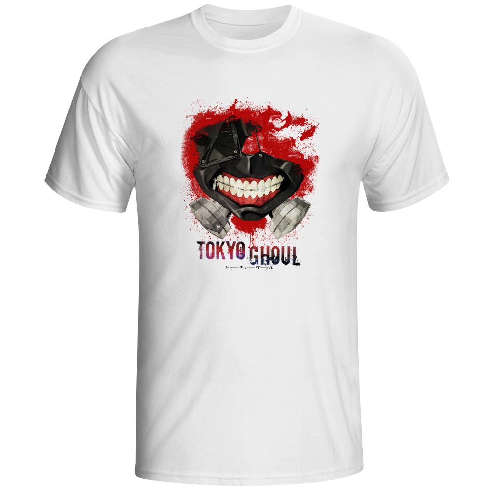 Design t shirt brand - Tokyo Ghoul T Shirt Top Fashion Brand Japanese Anime T Shirt Printed Casual Style Tshirt Men Women Top Cool Design Tee