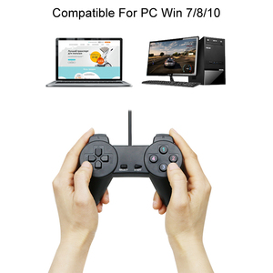 Image 2 - Black Wired Gamepad Usb 2.0 Joystick Controller Joypad Controle Voor Pc Laptop Computer Voor Pc Laptop Computer Voor Win7/8/10