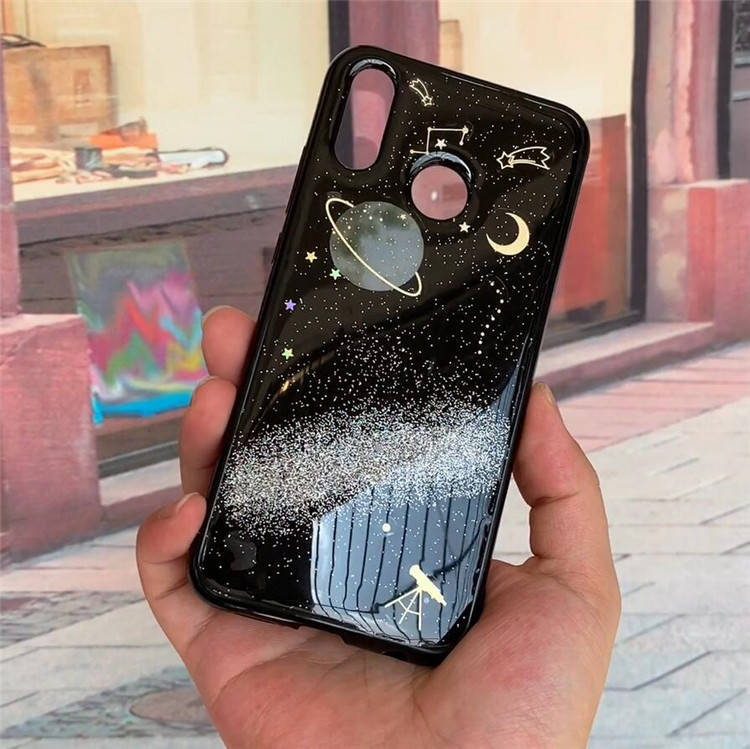 Half-wrapped Case Cellphones & Telecommunications Saturn Glitter Moon Universe Planet Tpu Case For Samsung Galaxy A7 2018 Cover Back For Samsung A7 2018 A750