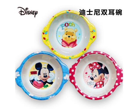 6M+ Baby Kids Children Safe Tableware Zoo Animal Melamine Dishes Baby  Feeding Bowl(China (