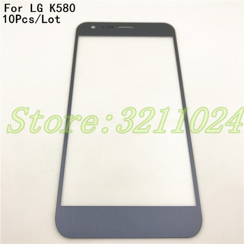 10Pcs/Lot Front Screen Outer Glass Touch Outer Cover Panel LENS For LG X Cam K580 Touchscreen With Logo
