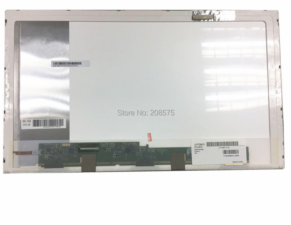 Livraison Gratuite LP173WD1 TLG1 N173O6-L02 LTN173KT02 B173RW01 V.3 B173RW01 V.4 LTN173KT01 Ordinateur Portable Lcd Écran Pancel LVDS 40pin