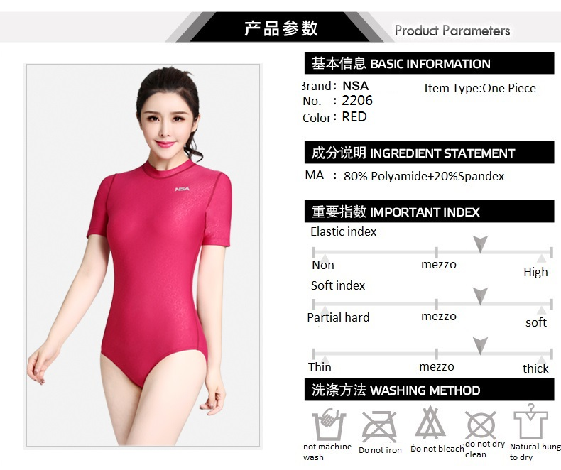 087f61ee7c11d NSA new Triangle conjoined Water polo women\'s bathing suit Cultivate one\'s  morality show thin waterproof professional swimwear