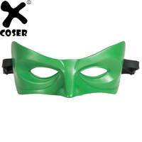 XCOSER 2018 Hot Sale Lantern Mask Green Resin Eye Patch Superhero Cosplay Costume Accessories For Masquerade Halloween Party