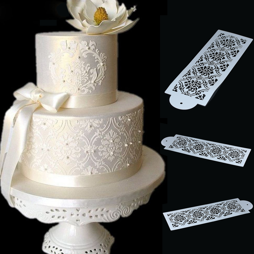 Baking & Pastry Tools 1pc Flower Rattan Lace Silicone Cake Mold Fondant Chocolate Mould Cake Decoration Tools Sugar Craft Cupcake Supplies Baking Tool