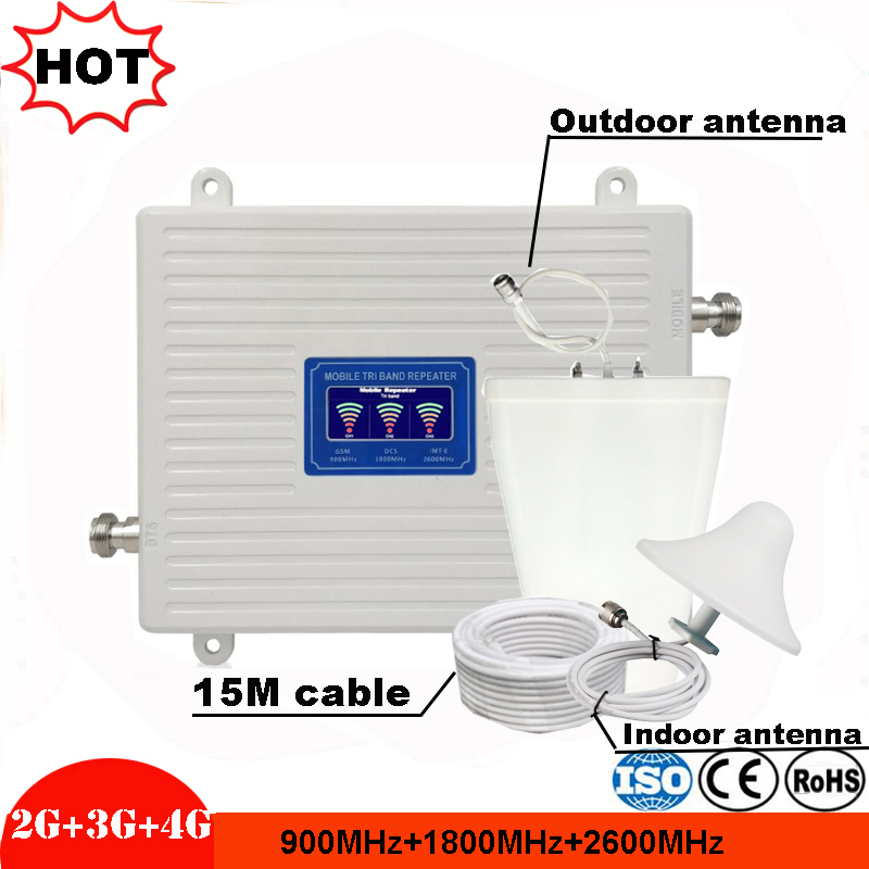 2G 3G 4G GSM 900 WCDMA LTE 2600 Cellular Signal Booster GSM repeater 3G 4G LTE