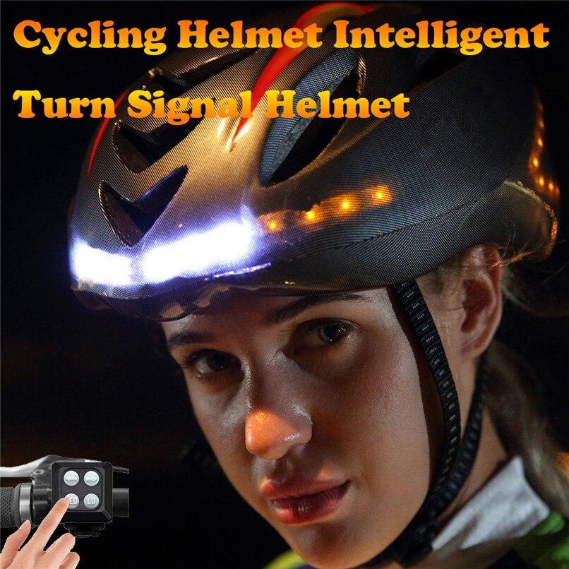 USB Rechargeable Smart Bicycle Bike Light Helmet with Wireless Turn Signal Handlebar Remote control ##3u04USB Rechargeable Smart Bicycle Bike Light Helmet with Wireless Turn Signal Handlebar Remote control ##3u04