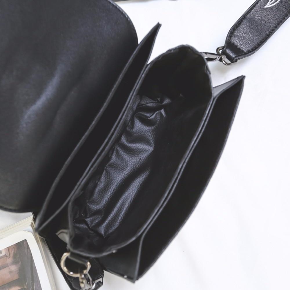 Brand Women Bag Chain Shoulder Bag Fashion Female Flower PU Leather Crossbody Bag Embroidery Women's Messenger Bag For Girls 351 6