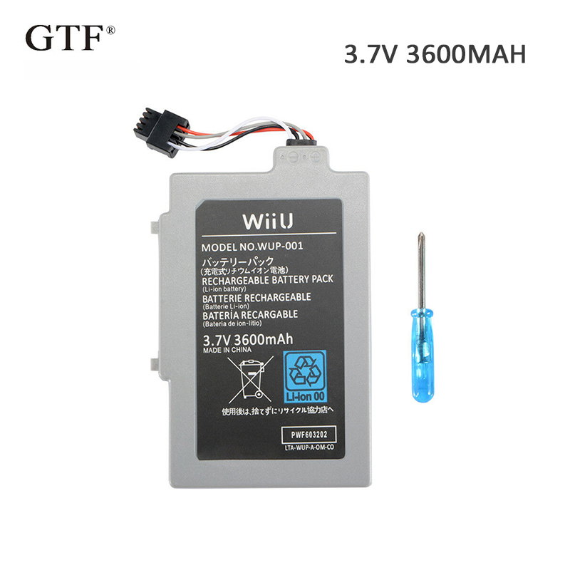 3.7V 3600mAh Rechargeable Li-ion Battery Pack Replacement For Nintendo Wii U Gamepad Electric Power Tool