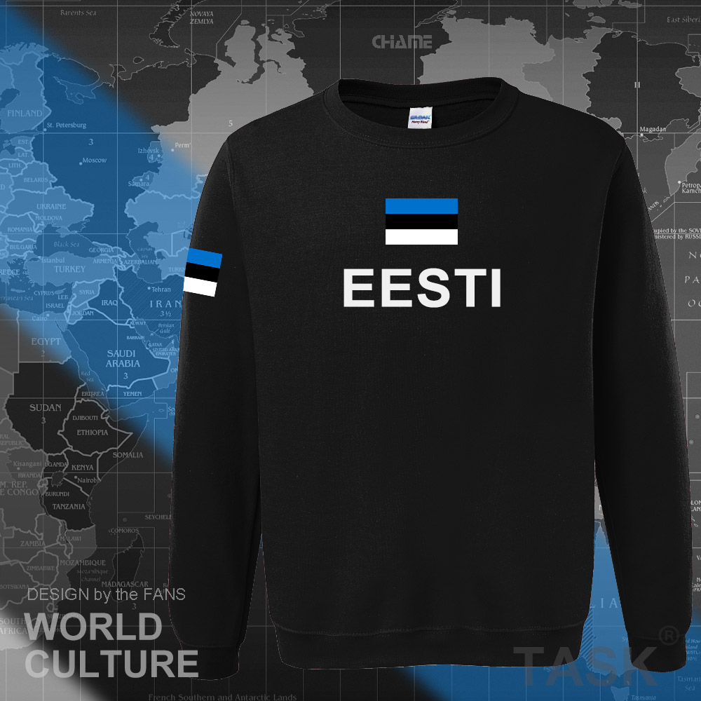 Estonia Estonian Hoodies Men Sweatshirt Sweat New Hip Hop Streetwear Tracksuit Nation Footballer Sporting Country EST Eesti