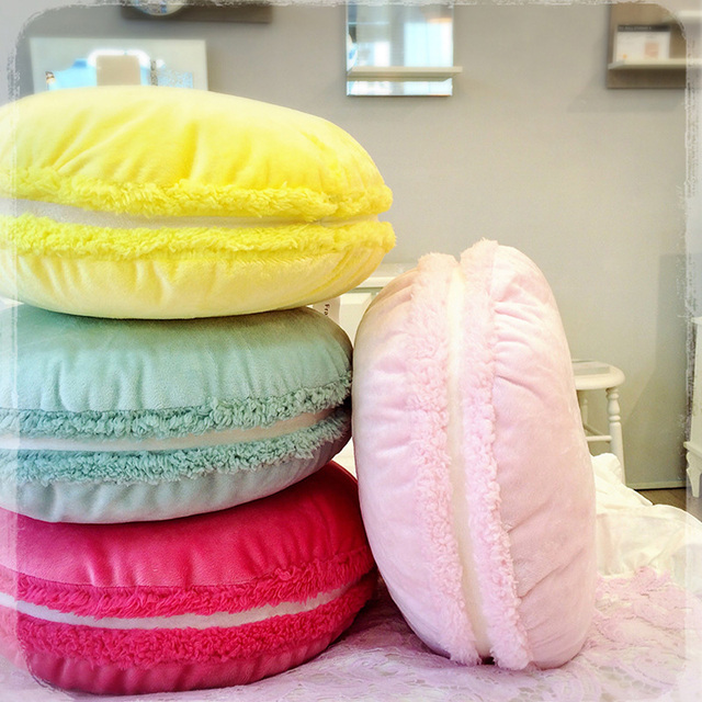 Round 40*40cm Macaron Cushion Pillows For Chairs Bedroom Living Room Modern  Soft Decorative Pillows