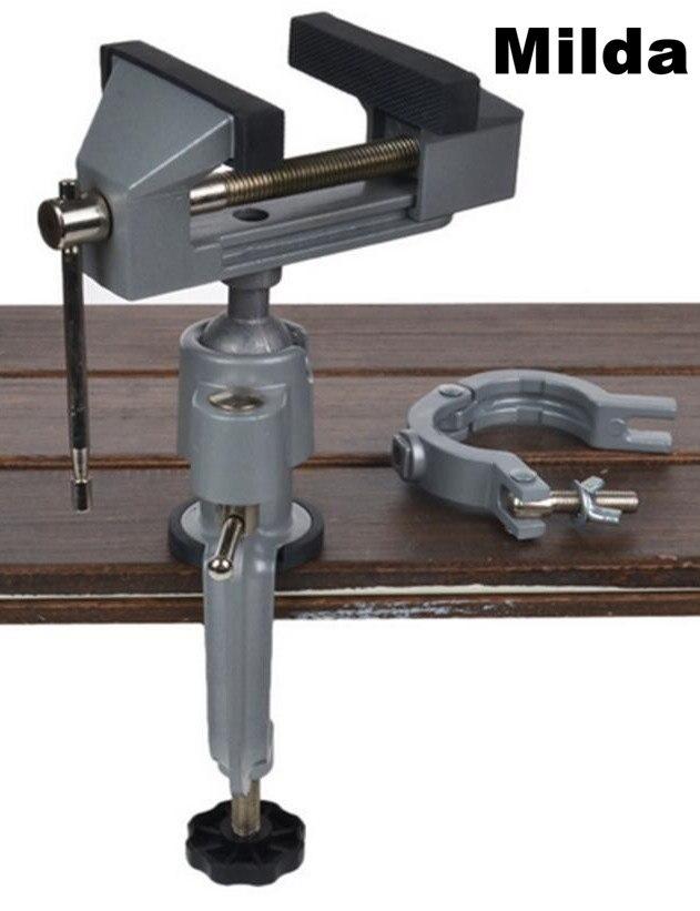 Milda 2 En 1 Multifonction Table Étau Banc Vice alliage D'aluminium 360 Degrés de Rotation Universel Pince Unités Étau Mini Précis