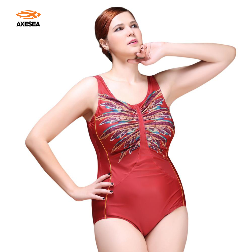 New Sexy One Piece Swimsuit 2017 Vintage Plus Size Swimwear Women Look Slim Print Beach Bodysuit Scoop Back Halter Bathing Suit plus size scalloped backless one piece swimsuit