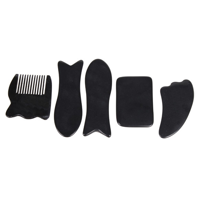 5 in 1 Chinese Gua Sha Body Tools Set