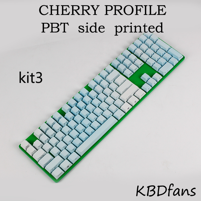 Free shipping side printed PBT keycaps  for cherry mx key caps switches 104keycaps mechanical keyboard cherry profile клавиатура asus strix tactic pro cherry mx black black usb 90yh0081 b2ra00