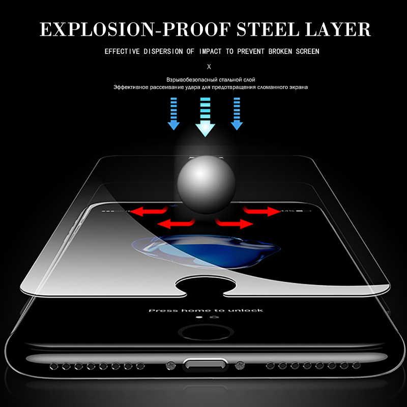 واقية الزجاج المقسى ل iphone 6 7 5 s se 6 6 s 8 زائد XS ماكس XR الزجاج iphone 7 8 x واقي للشاشة الزجاج على iphone X فيلم