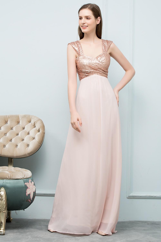 14f61761e3e5 2019 Sexy Rose Gold Sequin Chiffon Bridesmaid Dresses Off Shoulder Long  Wedding Party Dresses robe demoiselle d honneur