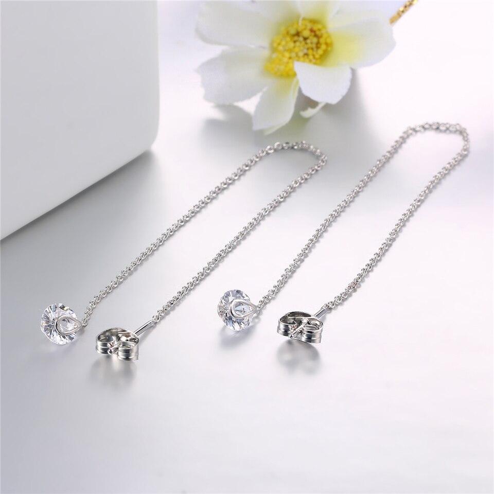 f PISSENLIT Silver Long Drop Earrings Round Gold Silver Earrings Women Jewelry New Fashion Grace Woman Korean Jewelry Girls Gifts