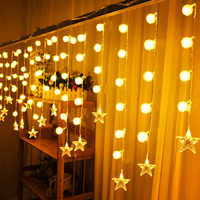 Holiday led string lights christmas wedding home party led light waterproof outdoor dandelion mix start decoration light