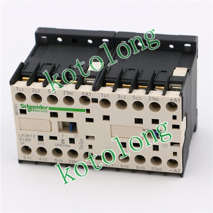 TeSys K reversing contactor 3P 3NO DC LP2K1201BD LP2-K1201BD 12A 24VDC LP2K1201BND LP2-K1201BND 12A 60VDC coil tesys k reversing contactor 3p 3no dc lp2k1201md lp2 k1201md 12a 220vdc lp2k1201nd lp2 k1201nd 12a 60vdc coil