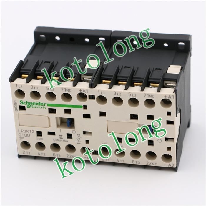 TeSys K reversing contactor 3P 3NO DC LP2K1201BD LP2-K1201BD 12A 24VDC  coil tesys k reversing contactor 3p 3no dc lp2k1201zd lp2 k1201zd 12a 20vdc lp2k1201ud lp2 k1201ud 12a 250vdc coil