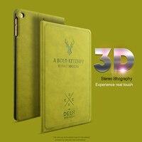 KISSCASE Auto Sleep Flip Case For IPad Mini 1 2 3 PU Leather Cover For IPad